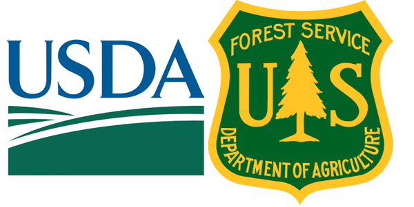 U.S. Forest Service and U.S. Department of Agriculture logo